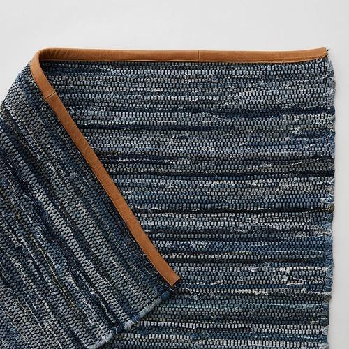 MJG Stripy Odyssey Cotton & Leather Rug