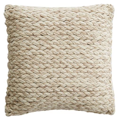 MJG Plaited Pasadena Cotton & Wool Cushion