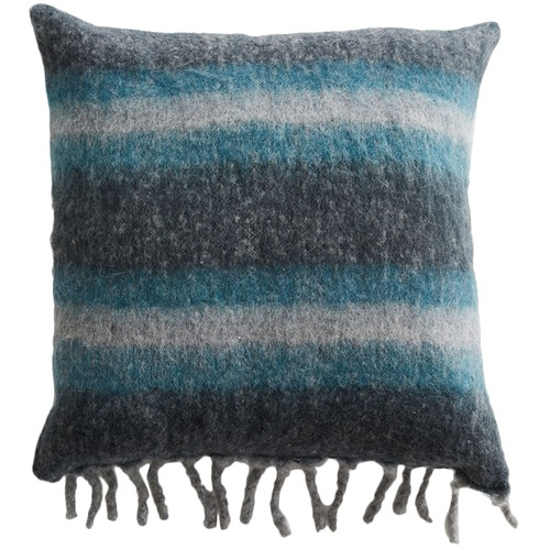 MJG Stripe Cabin Wool-Blend Cushion