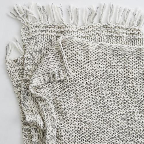 MJG Marle Wool-Blend Throw