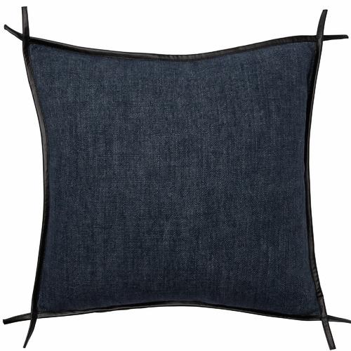 L & M Home Trimmed Burton Square Linen Cushion