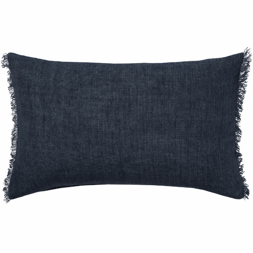 L & M Home Fringed Burton Rectangular Linen Cushion