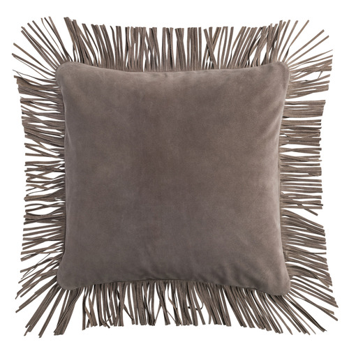 L & M Home Fringed Caravan Suede Cushion