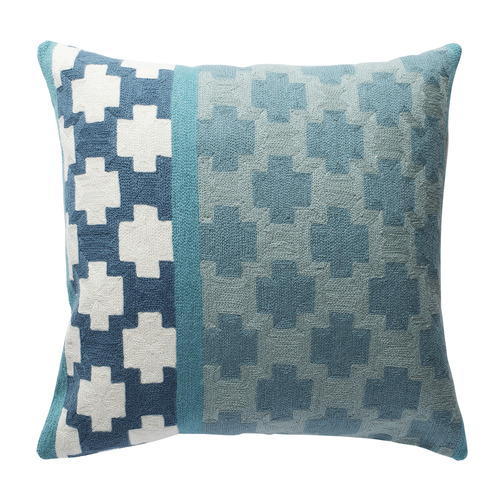 L & M Home Chainstitch Fez Square Wool-Blend Cushion