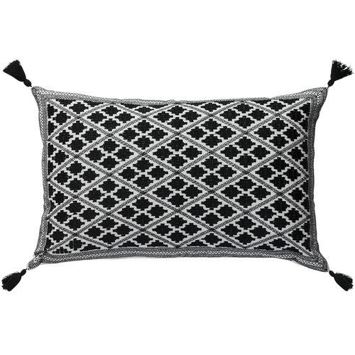 L & M Home Embroidered Marais Cotton Cushion
