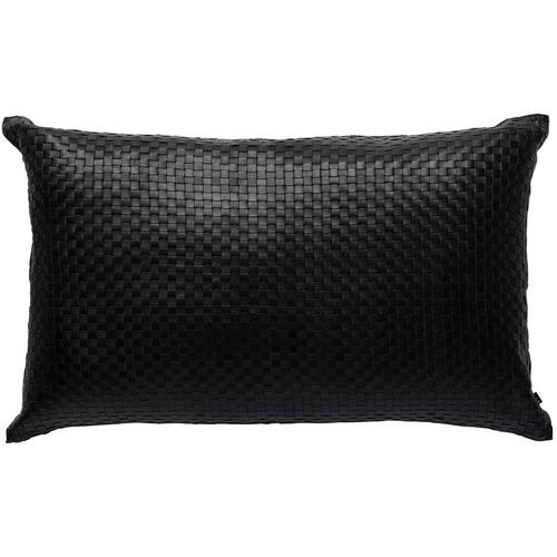 L & M Home Woven Napa Rectangular Leather Cushion