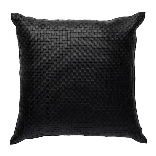 L & M Home Woven Napa Square Leather Cushion