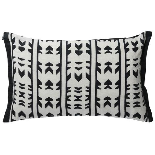 L & M Home Geometric Negombo Linen Cushion