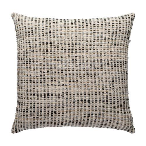 L & M Home Woven Nord Square Cotton Cushion