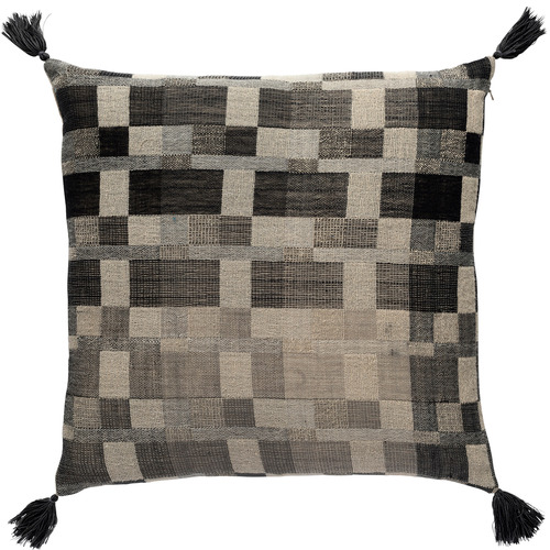 L & M Home Chequered Oslo Wool-Blend Cushion