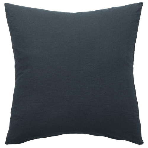 L & M Home Attic Square French Linen-Blend Cushion