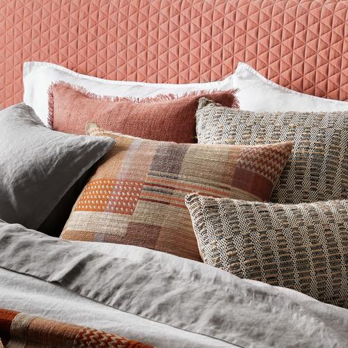 L & M Home Bengal Square Linen-Blend Cushion