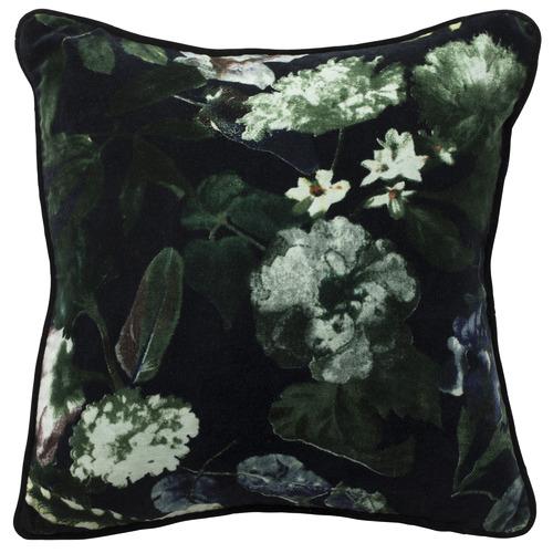 L & M Home Black Botanica Velvet Cushion
