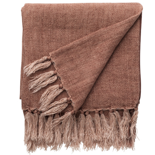 L & M Home Earth Burton Linen Throw