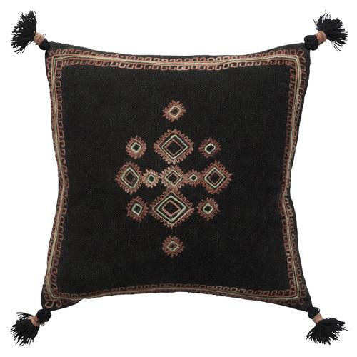 L & M Home Coal Dharma Cotton-Blend Cushion