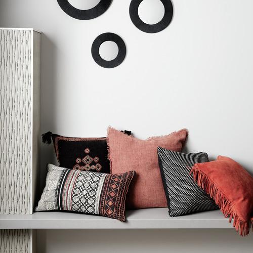 L & M Home Geometric Indus Cotton-Blend Cushion