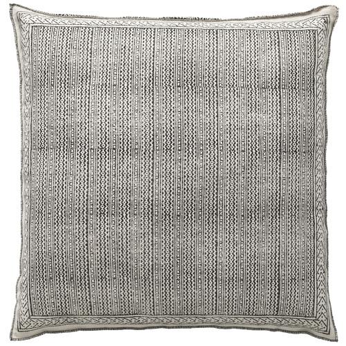 L & M Home Black Lagom Cotton Floor Cushion