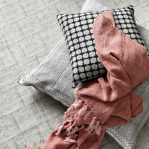 L & M Home Geometric Lama Cotton Cushion