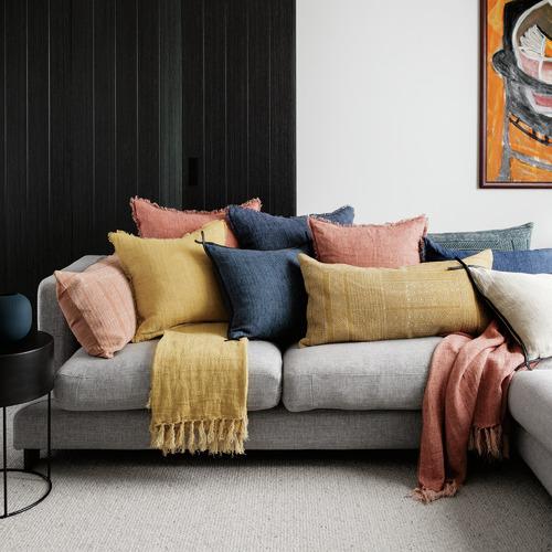 L & M Home Shimla Cotton Lumbar Cushion