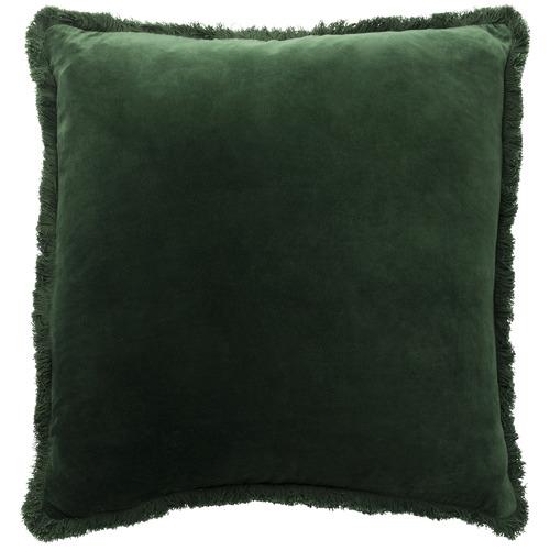L & M Home Forest Fringed Square Velvet Cushion