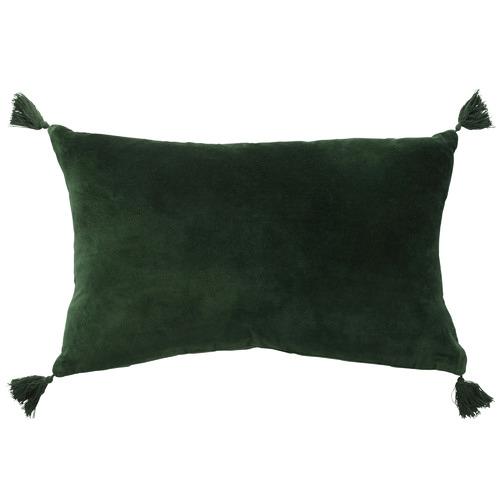 L & M Home Forest Fringed Rectangular Velvet Cushion