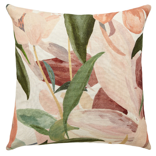 L & M Home Floral Garden Linen Cushion