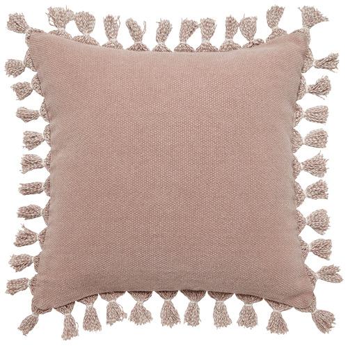L & M Home Otis Cotton & Jute Cushion with Tassels
