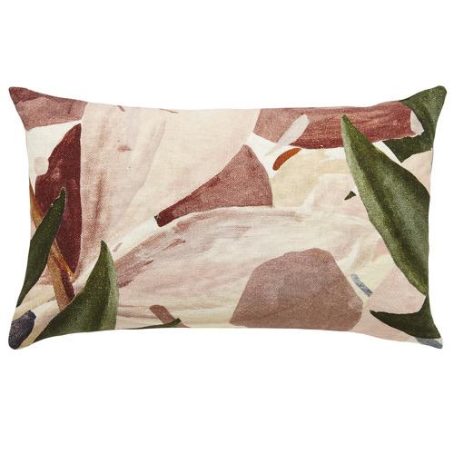 L & M Home Floral Zen Linen Cushion