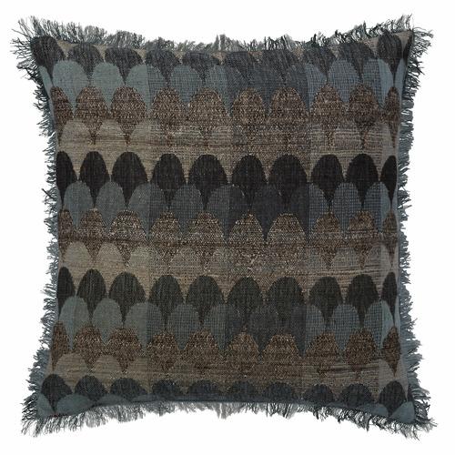 L & M Home Multi-Coloured Empire Blue Wool-Blend Cushion
