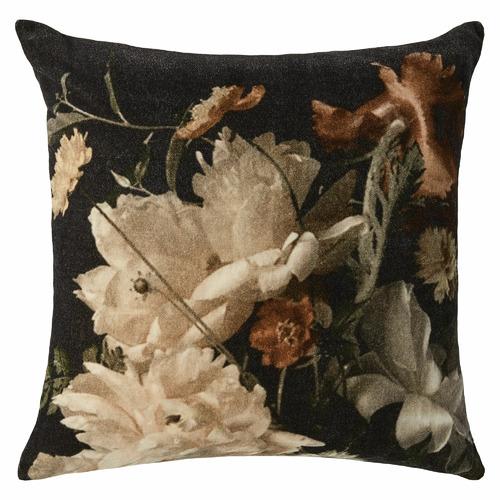 L & M Home White Nocturne Cotton Cushion