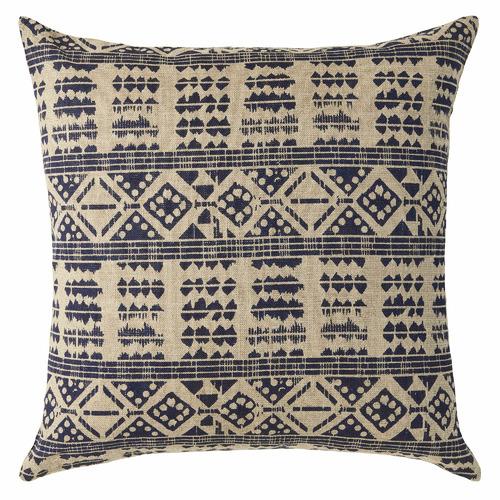L & M Home Blue Odessa Linen Cushion