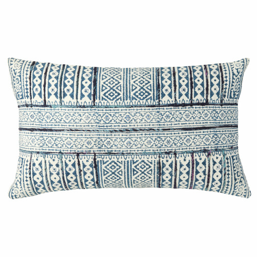 L & M Home Blue Odin Cotton Cushion