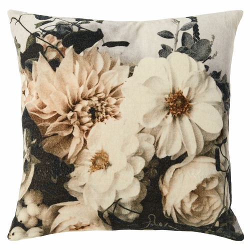 L & M Home Ivory Splendour Cotton Cushion