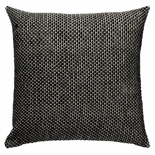 L & M Home Black & White York Cotton Cushion