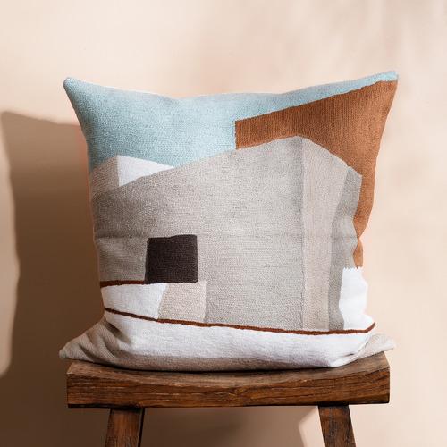 Multi-Colour Villa Cotton-Blend Cushion