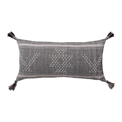 Tumi Hand-Woven Wool & Cotton Lumbar Cushion