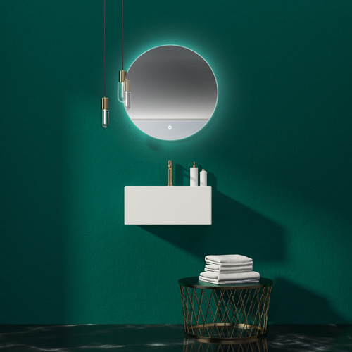 Luxe View Co Round Backlit Mirror with Demister