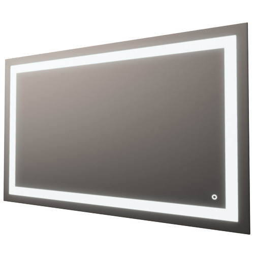 Luxe View Co Silver Rectangle Frontlit Mirror with Demister