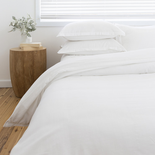 Loom Living White Loom Bamboo & Cotton Quilt Cover Set
