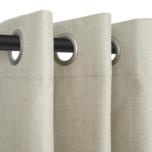 Nettex Taupe Porter Single Panel Eyelet Curtain