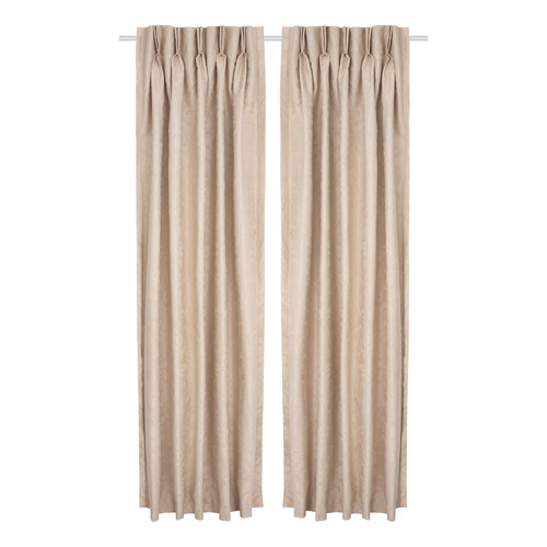 Nettex Mushroom Reno Pinch Pleat Blockout Curtains