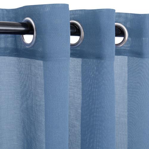Nettex Blue Urban Single Panel Eyelet Curtain