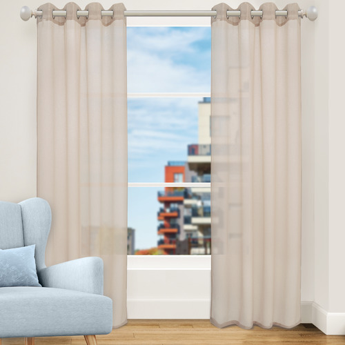 Nettex Canvas Urban Single Panel Eyelet Curtain