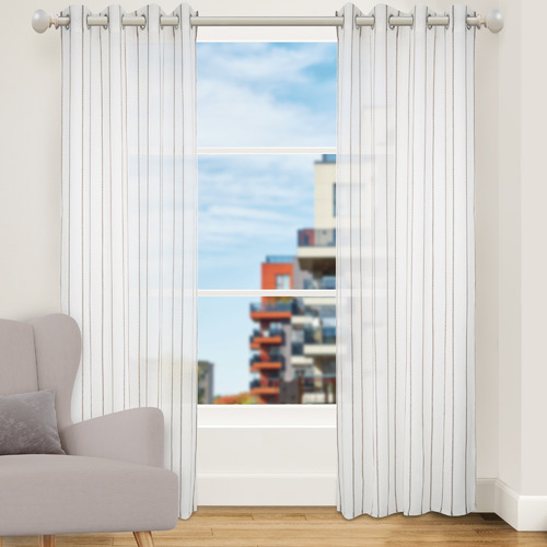 Nettex Mushroom Strand Single Panel Eyelet Curtain