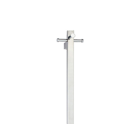 Aguzzo Square Tube EZY FIT Bottom Wired Heated Towel Rail