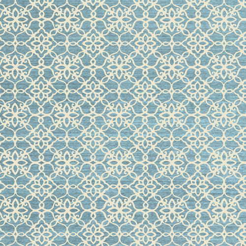 Ruggable Blue Floral Outdoor Rug