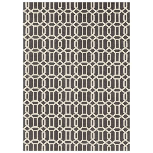 Ruggable Grey & White Fretwork Outdoor Rug