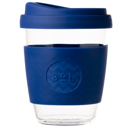 SolCups Winter Bondi Blue 354ml Glass Cup
