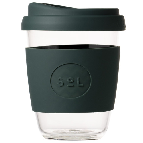 SolCups Deep Sea Green 354ml Glass Cup