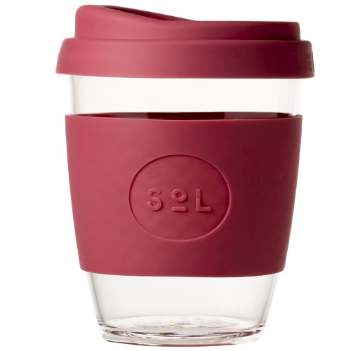 SolCups Radiant Rose 354ml Glass Cup